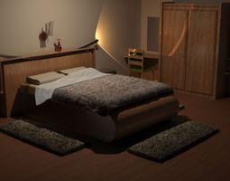 3D model Modern Bedroom bed