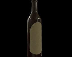 3d model PBR game-ready wine bottle - game ready