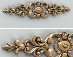 3D model Carved decor horizontal