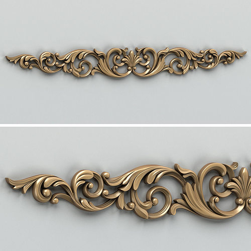 carved decor horizontal 007 3d model max obj mtl fbx stl 1