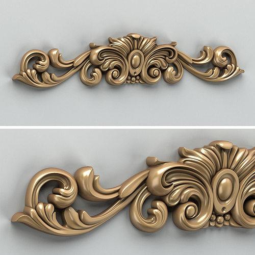 carved decor horizontal 010 3d model max obj fbx stl 1