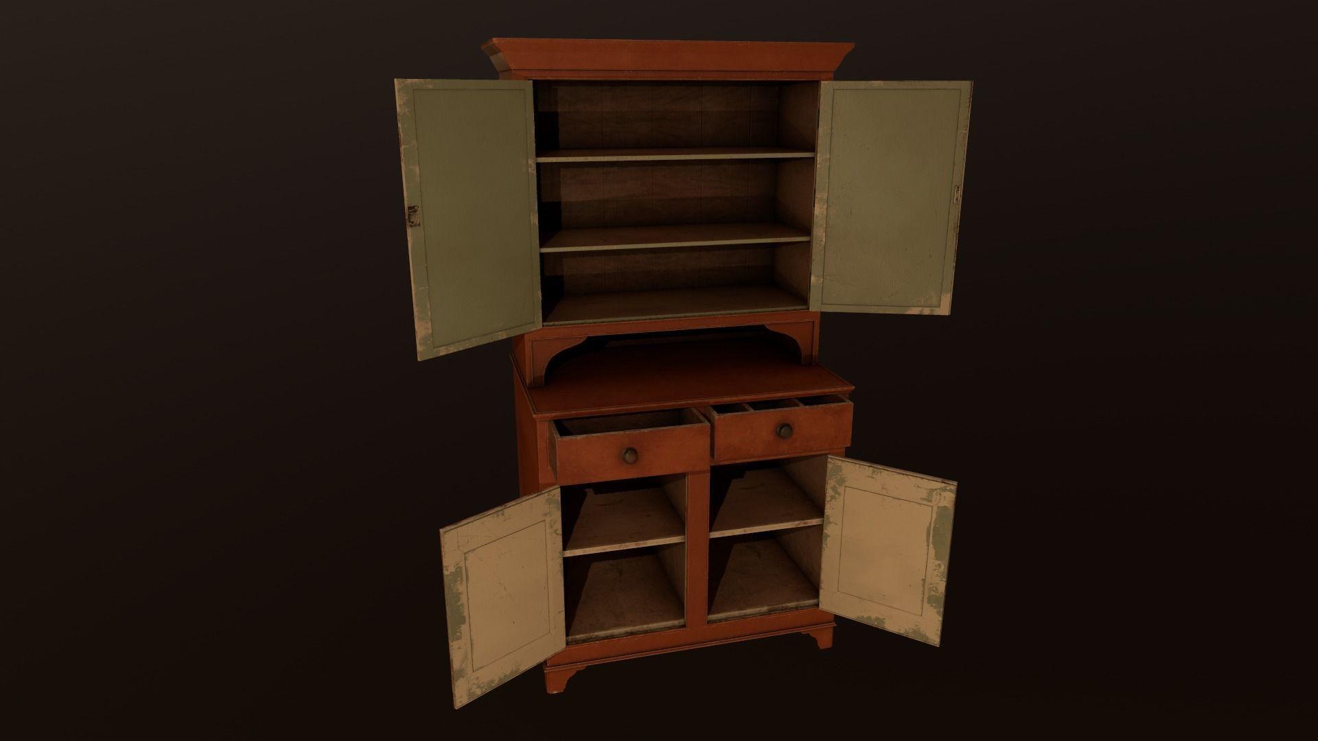 Old Cabinet - PBR Model