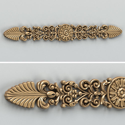 carved decor horizontal 011 3d model max obj mtl fbx stl 1