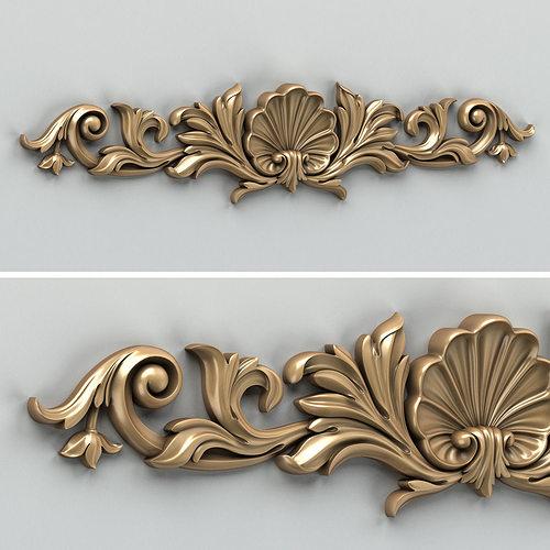 carved decor horizontal 016 3d model max obj mtl fbx stl 1