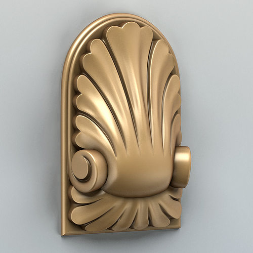 carved decor vertical 001 3d model max obj fbx stl 1