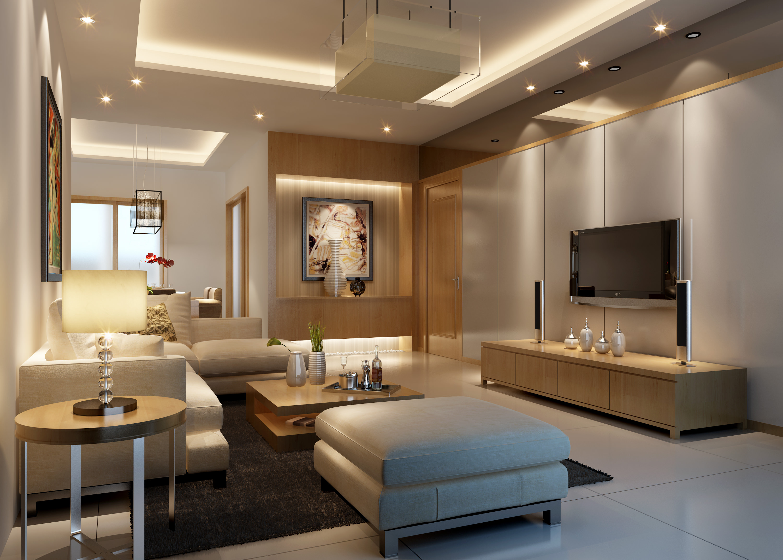 Model Living Room. living room 3d model max 1 interior design 3D Living  CGTrader