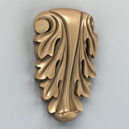 carved decor vertical 006 3d model max obj mtl fbx stl 1