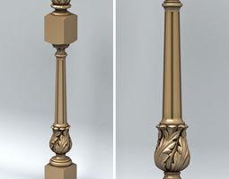 Newel post 001 3D model