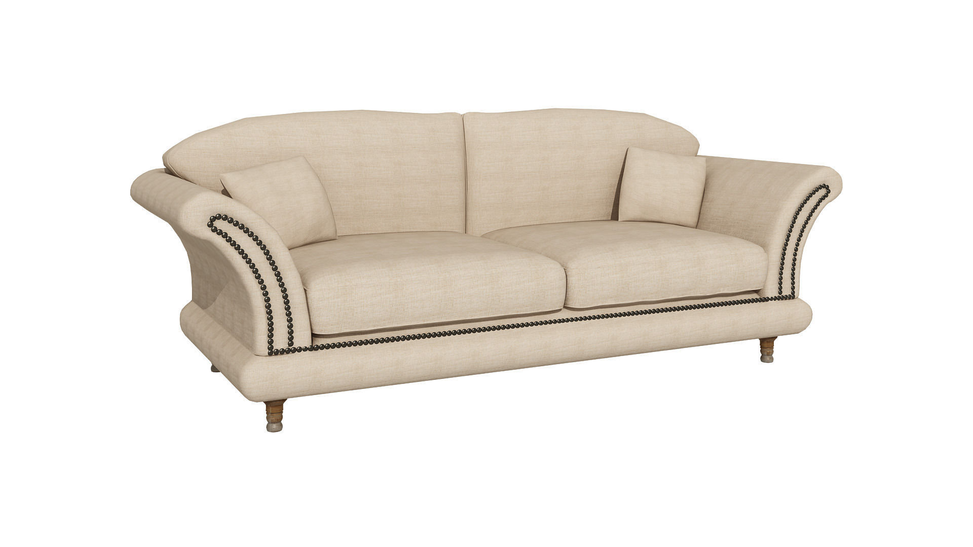 Modern Sofa With Pillows : Modern couch with pillows 236 3D Model .max - CGTrader.com