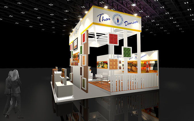 Food Exhibition Booth Design : D design booth food specialize model max ds
