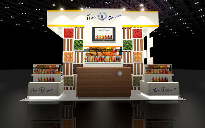 Exhibition Stand D Model : D design booth food specialize cgtrader