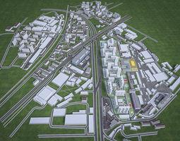 3D asset Urban Area 01