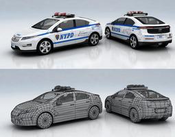 chevrolet volt police 3d model low-poly max