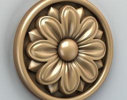Round rosette 005 3D