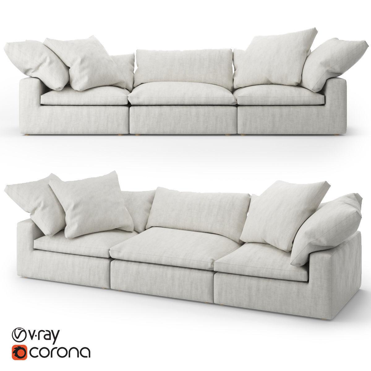 Restoration Hardware Cloud Modular Fabric Sofa