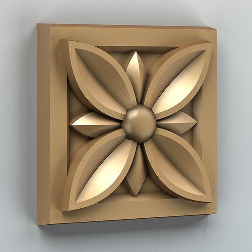 square rosette 002 3d model max obj mtl stl 1