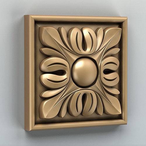 square rosette 003 3d model max obj mtl stl 1