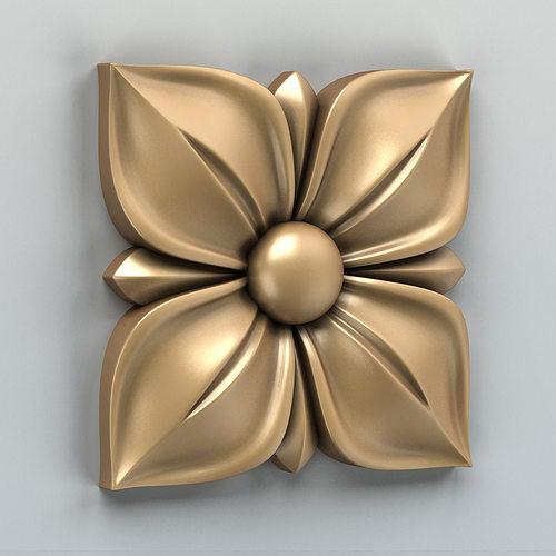 square rosette 007 3d model max obj mtl stl 1