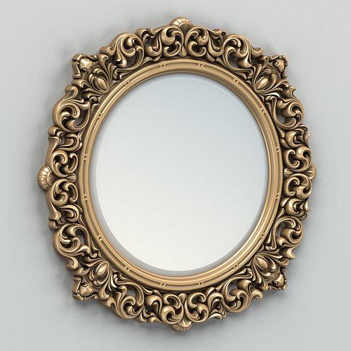 round mirror frame 001 3d model max obj fbx stl 1