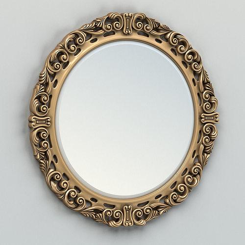 round mirror frame 002 3d model max obj fbx stl 1