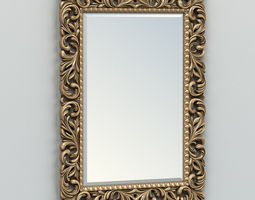 Rectangle mirror frame 001 3D model