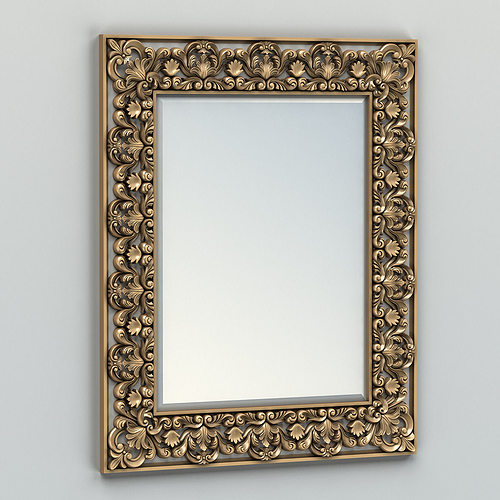 rectangle mirror frame 002 3d model max obj fbx stl 1