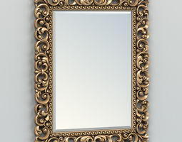 3D model Rectangle mirror frame 003