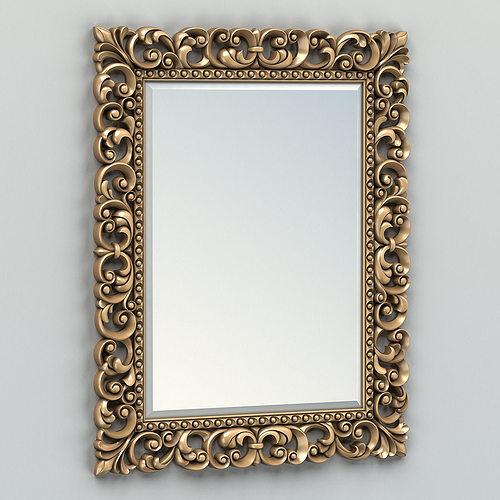 rectangle mirror frame 003 3d model max obj fbx stl mtl 1