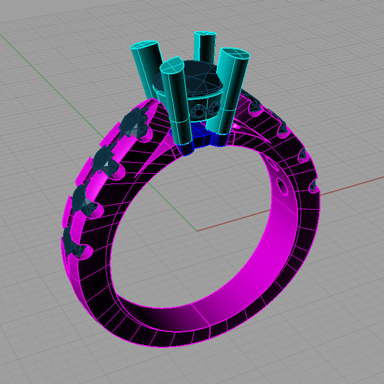 Solitaire Round diamond Cut Ring Anello solitario Sl04