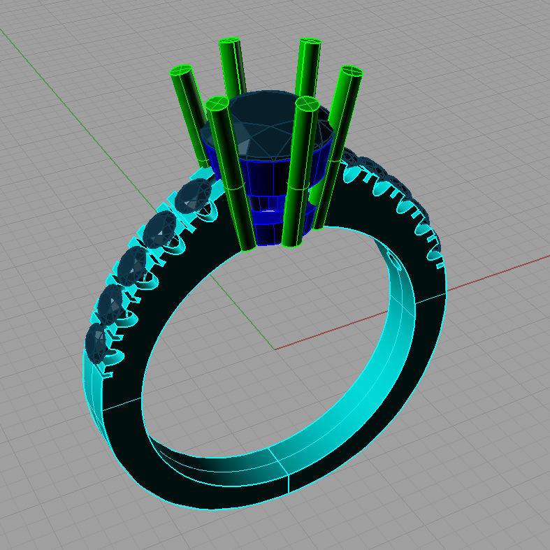 Solitaire Diamond Ring Anello Solitario Sl25