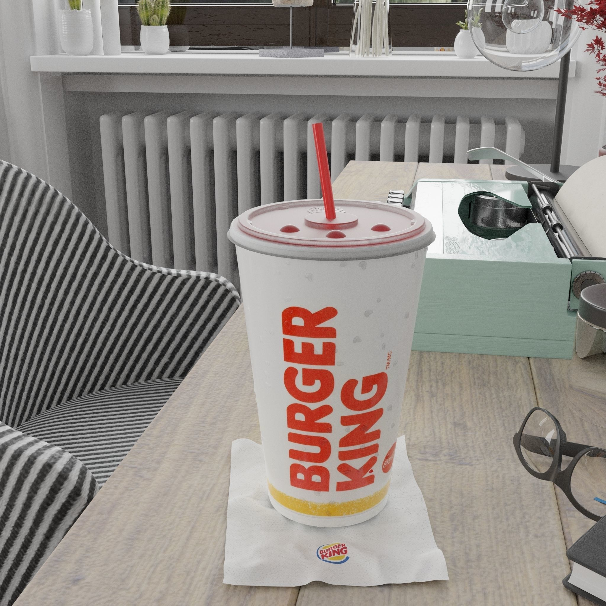 Burger King Photorealistic PBR Cup
