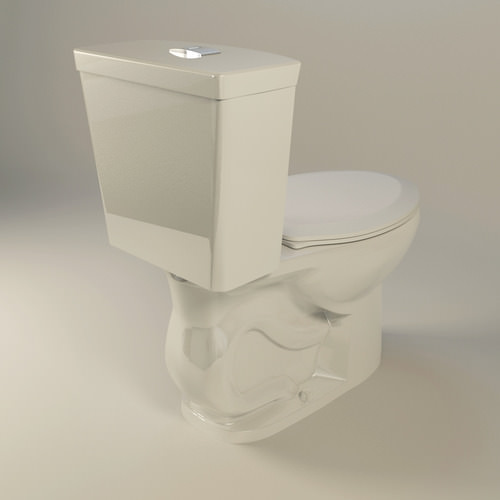 American Standard H2option Dual Flush Toilet 3d Model Max