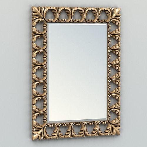 rectangle mirror frame 004 3d model max obj mtl fbx stl 1