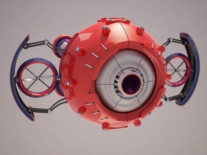 robot d37m701 3d model max obj mtl 3ds fbx mat 1