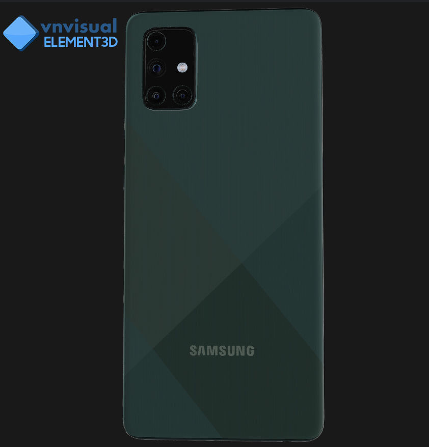 E3D - Samsung Galaxy A71 Prism Crush Blue