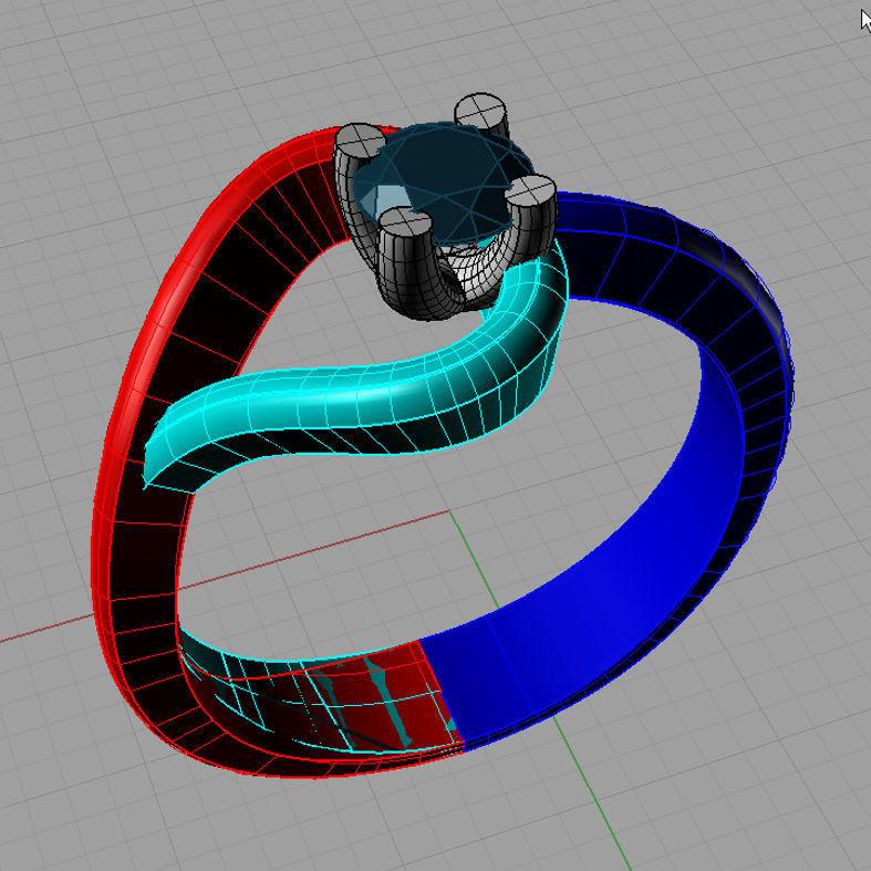 Solitaire Fantasy Diamond Ring Anello Solitario fantasia  Sl33