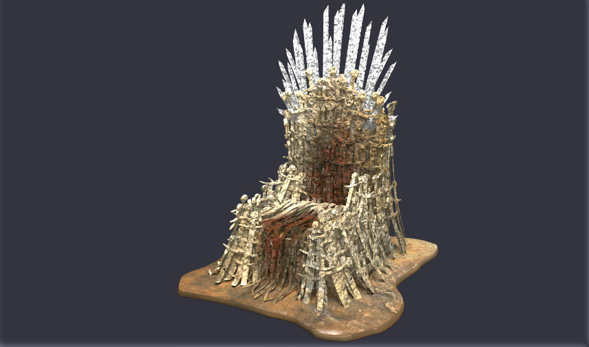 Iron throne 3d model max obj 3ds fbx for Buy iron throne chair