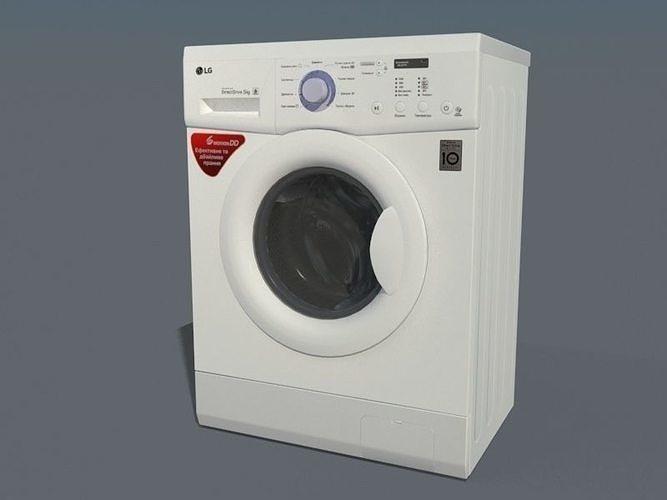 3D model LG FH0C3LD Washing mashine