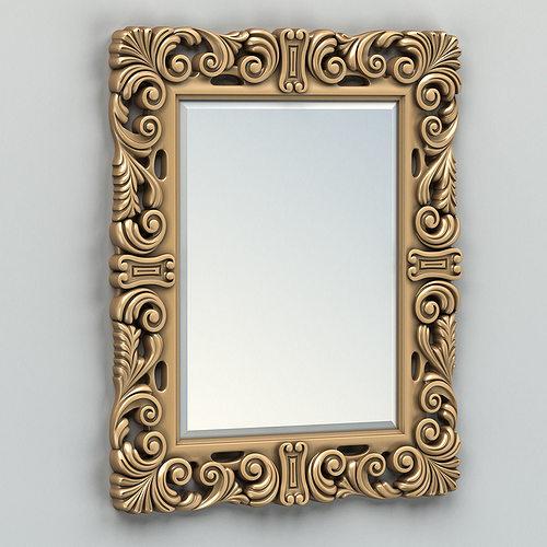 rectangle mirror frame 007 3d model max obj fbx stl 1
