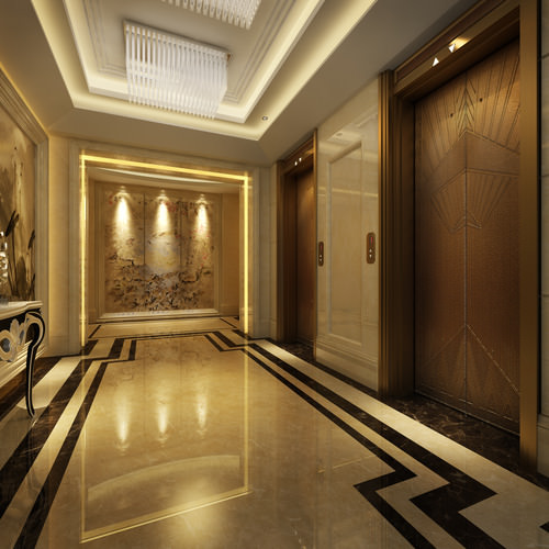 Hall entrance for Design hotel 3d