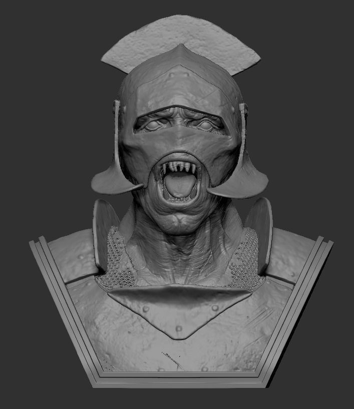Orc warrior bust
