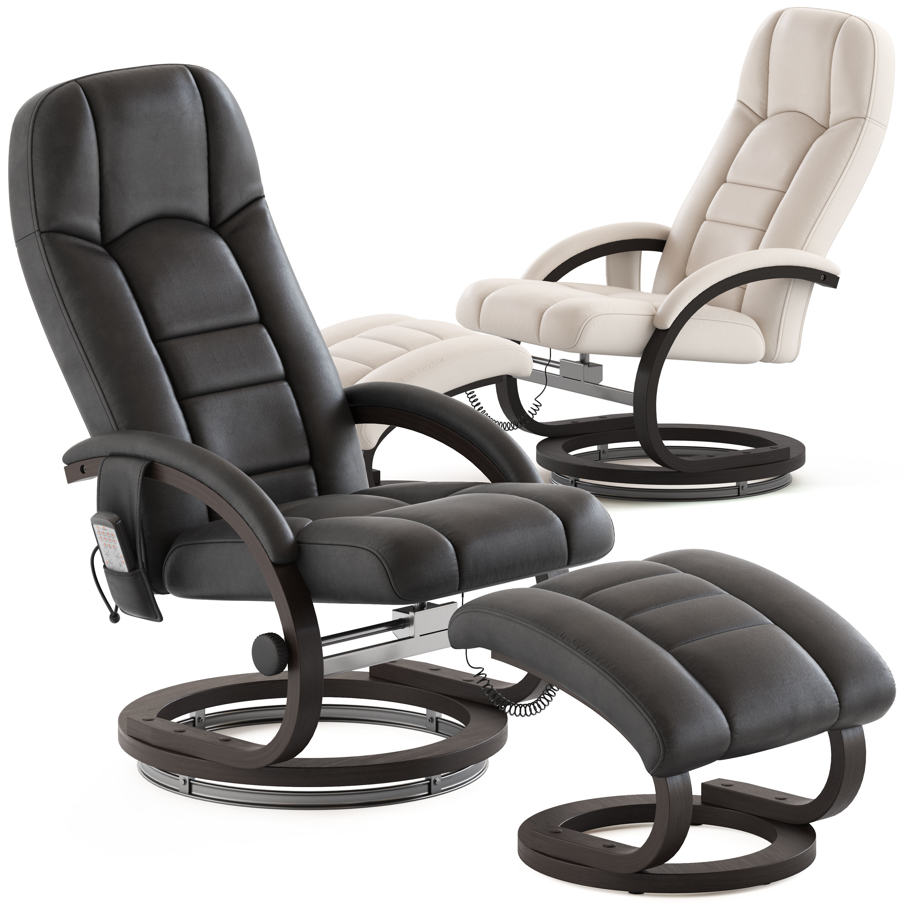 Essential Home Supply Malandi Massage Chair and Ottoman