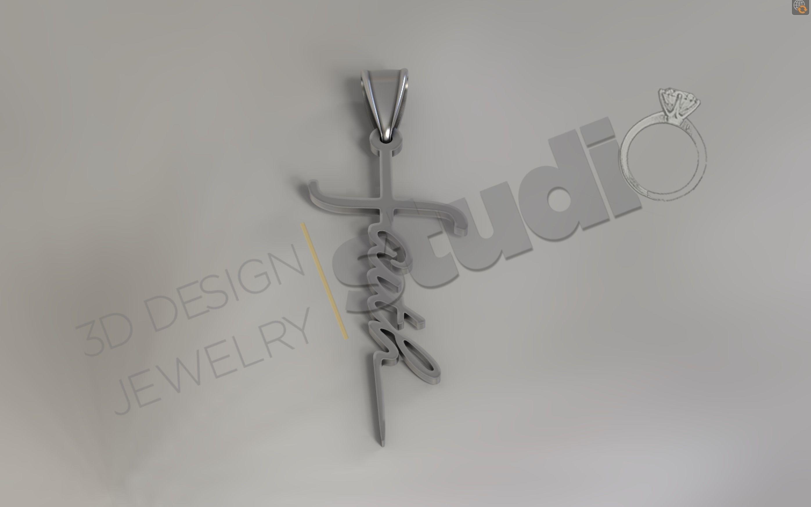 Faith sword pendant 3d model