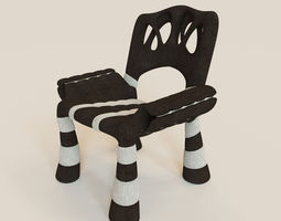Stylish mad chair 3D Model