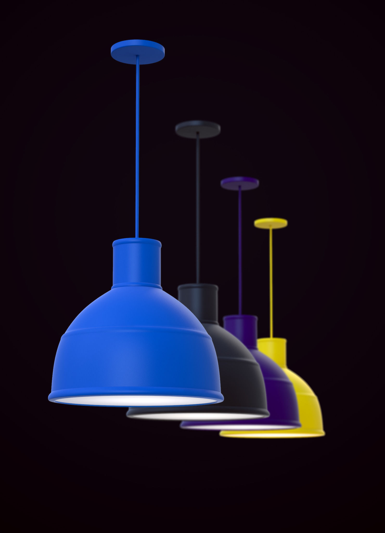 Muuto unfold hanging lamp 3d cgtrader muuto unfold hanging lamp 3d model max 3 mozeypictures Gallery