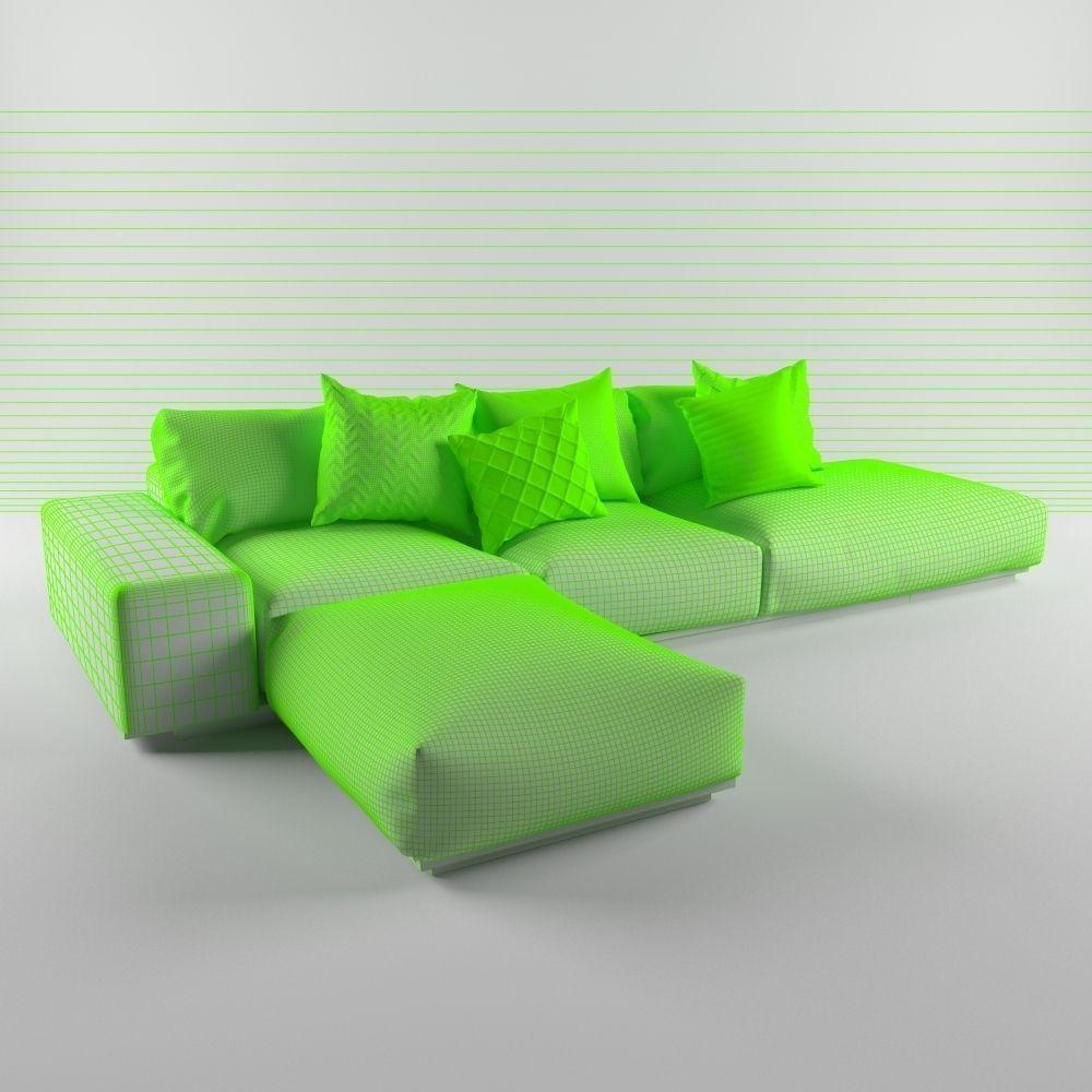 Monsieur Modular Sofa 3d Model Max Fbx 4