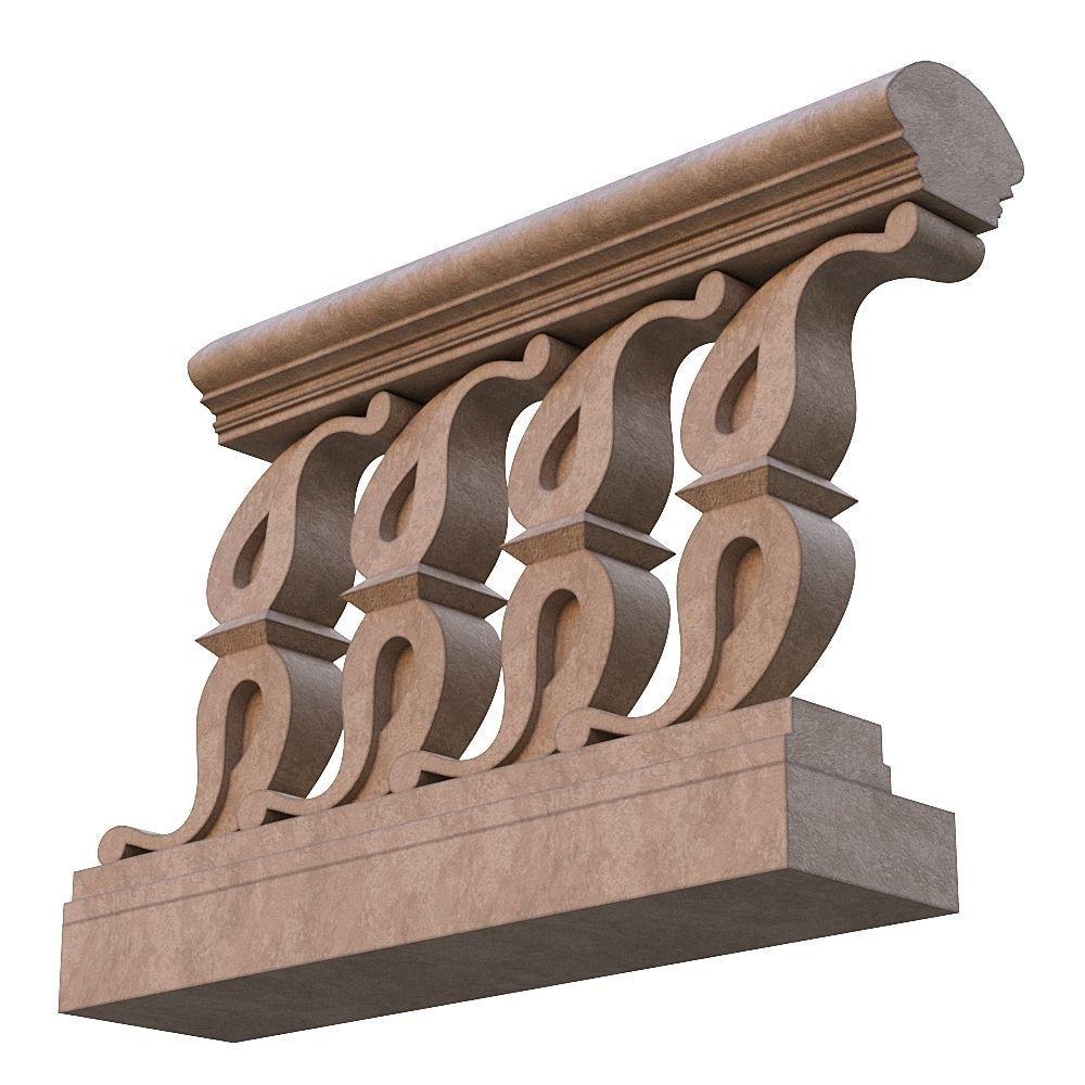 Stone balustrade 02