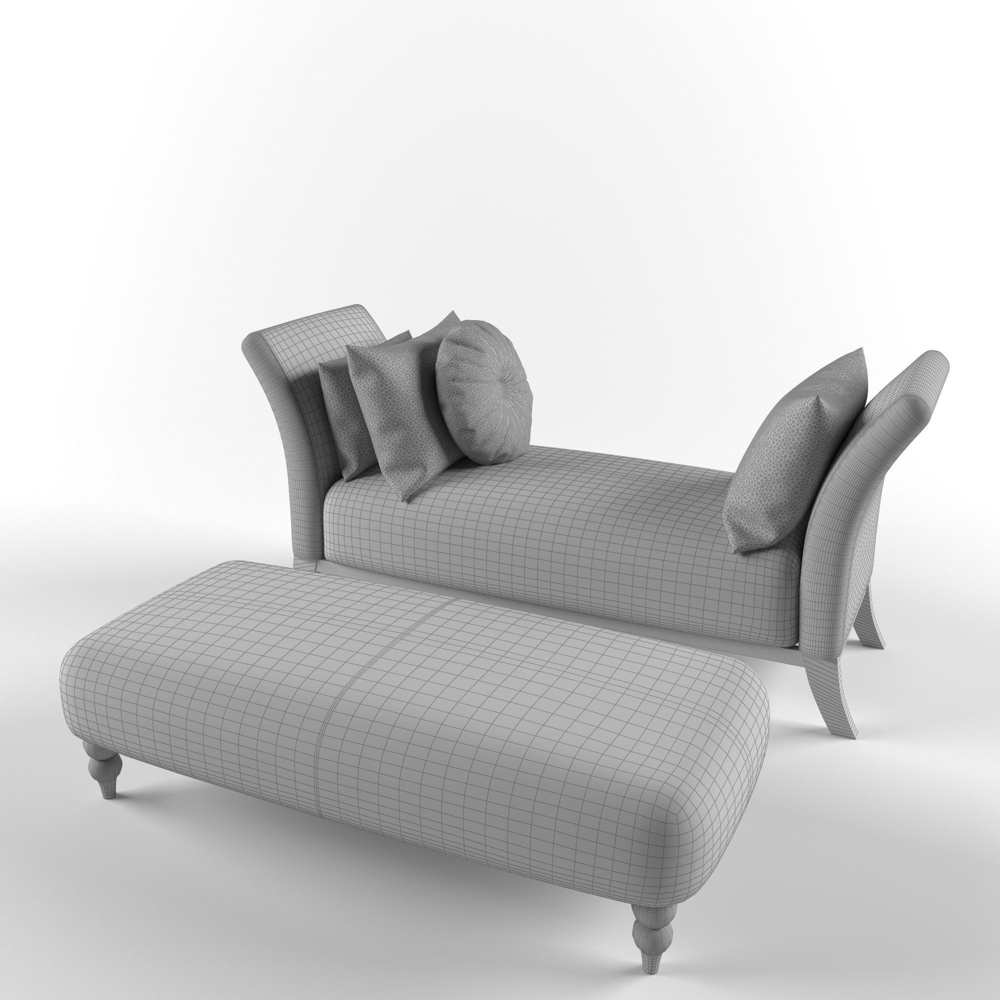 Clic Sofa Banquette Model Max Fbx Unitypackage Prefab 2
