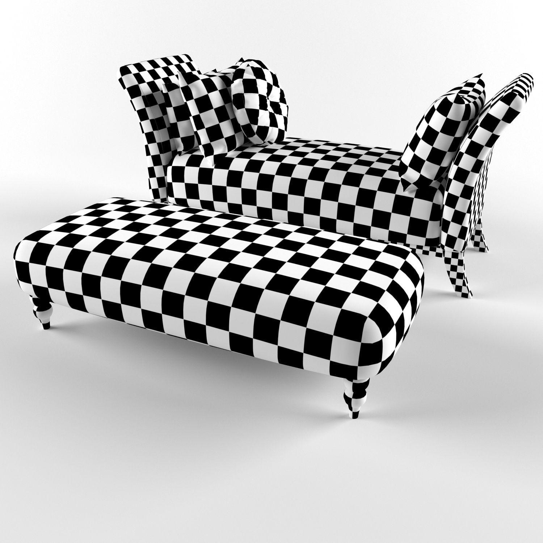 Banquette Couch: Classic Sofa Banquette 3D Model .max .fbx
