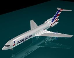 American Airlines 727 3D model